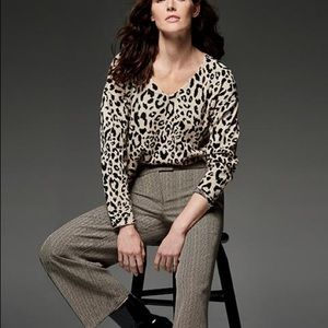 Jones New York Women's Sweater Size XL animal